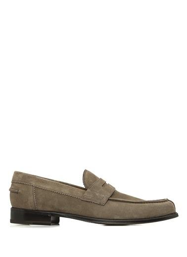 Barrett %100 Deri Loafer Ayakkabı Gri